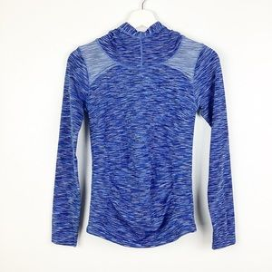 Athleta Radiance Blue Space Dye Hoodie Size Small
